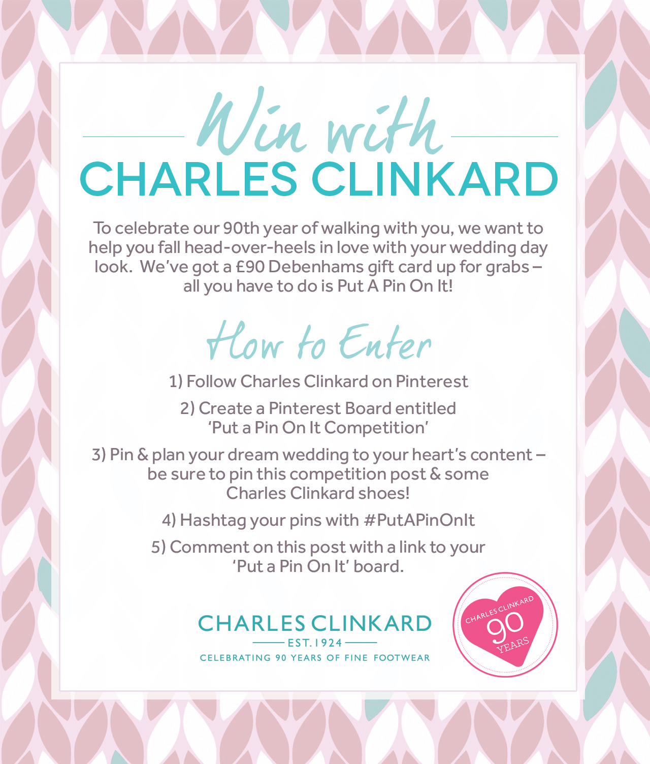 Put A Pin On It Competition | Charles Clinkard | Home › Blog