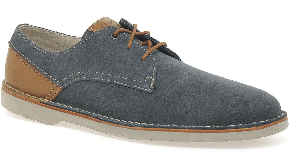Clarks-Hinton-Fly-Blue-Suede-Shoes-Mens ...