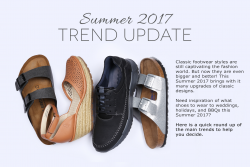 Classic footwear styles are still captivating the fashion world. But now they are even bigger and better! This Summer 2017 brings with it many upgrades of classic designs. Need inspiration of what shoes to wear to weddings, holidays, and BBQs this Summer 2017? Here is a quick round up of the main trends to help you decide.