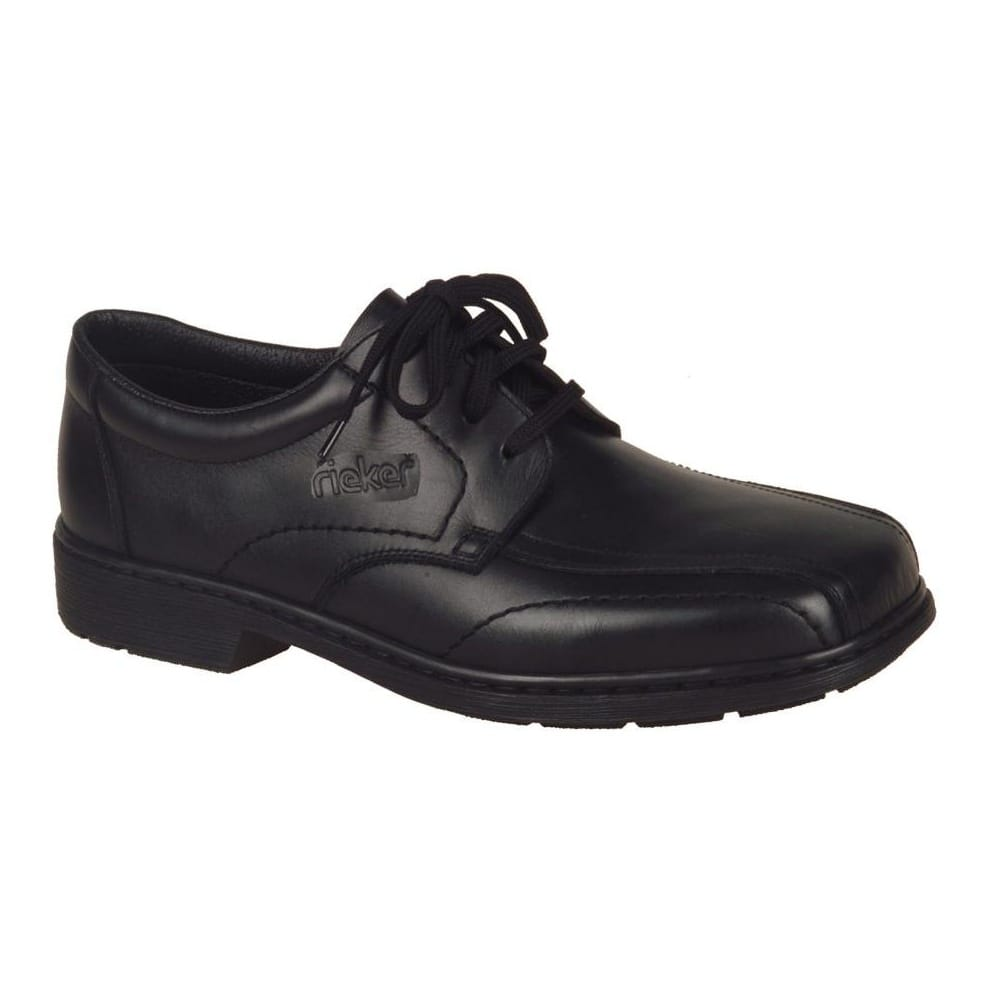 Rieker Nico Mens' Black Leather Lace Up Shoes 16720