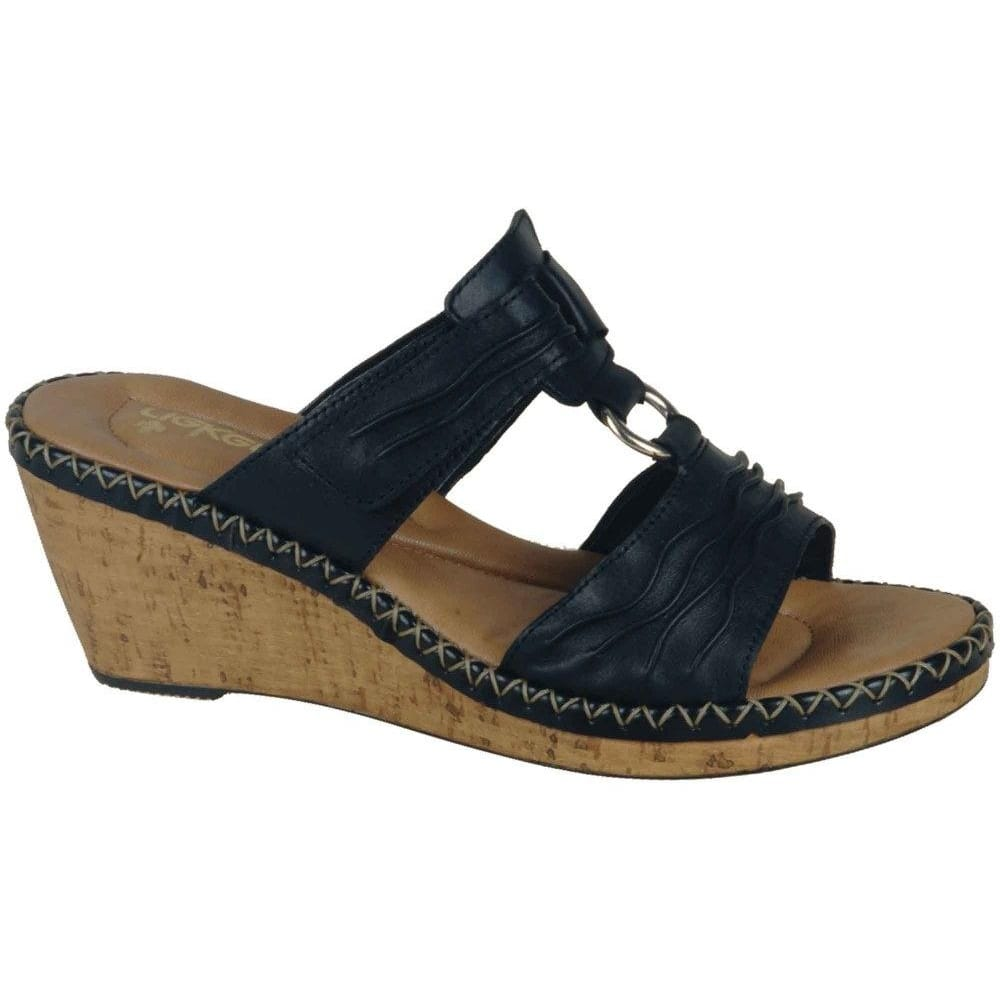 Rieker Rainie Ladies Wedge Mules