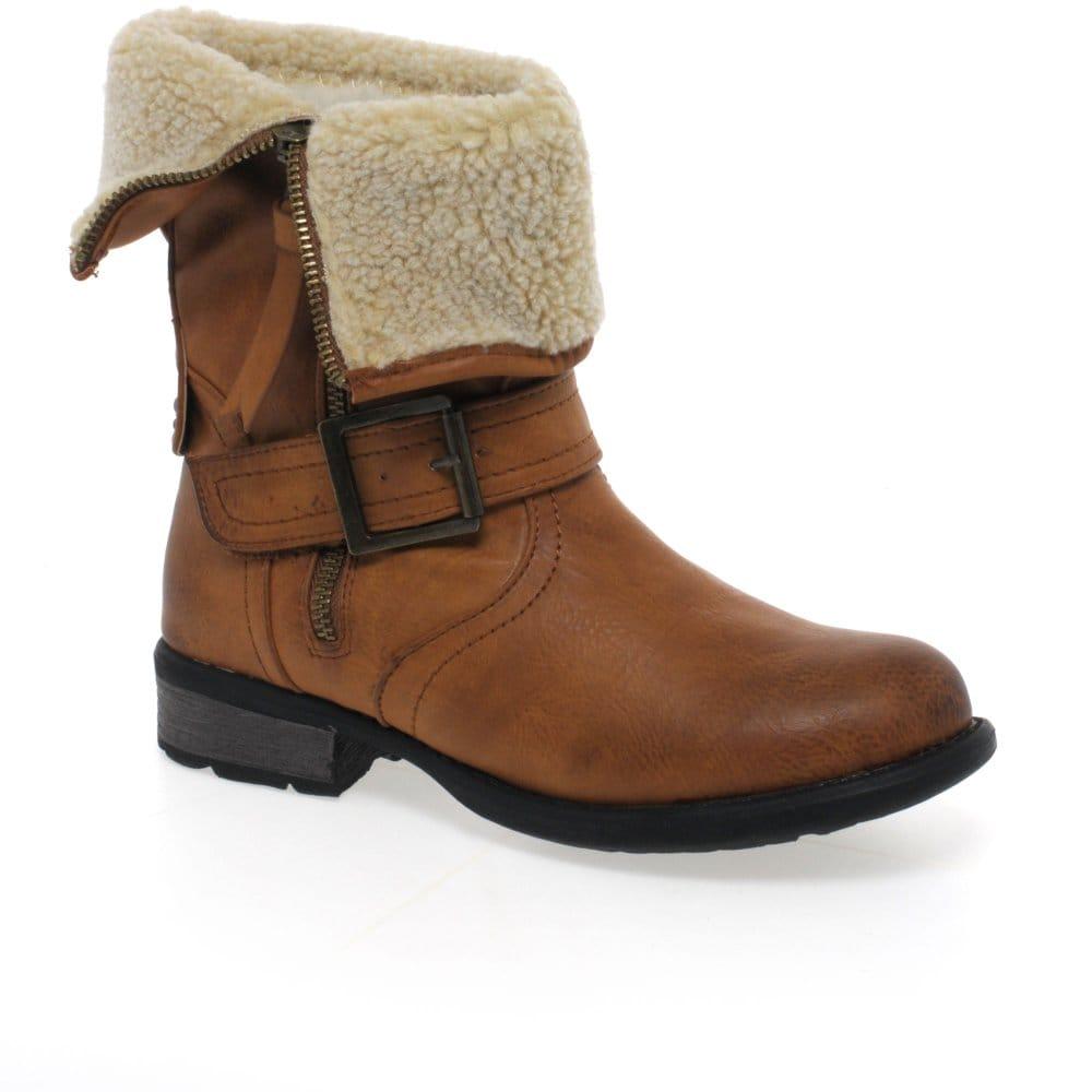 rieker teddy boots shearling charles clinkard