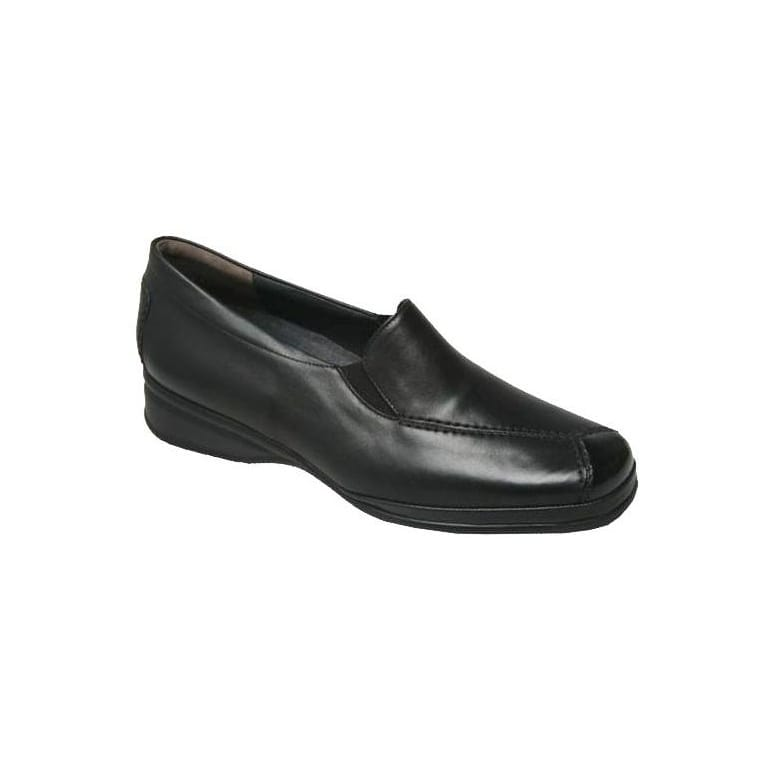 Ria Womens Leather Patent Toe Loafers