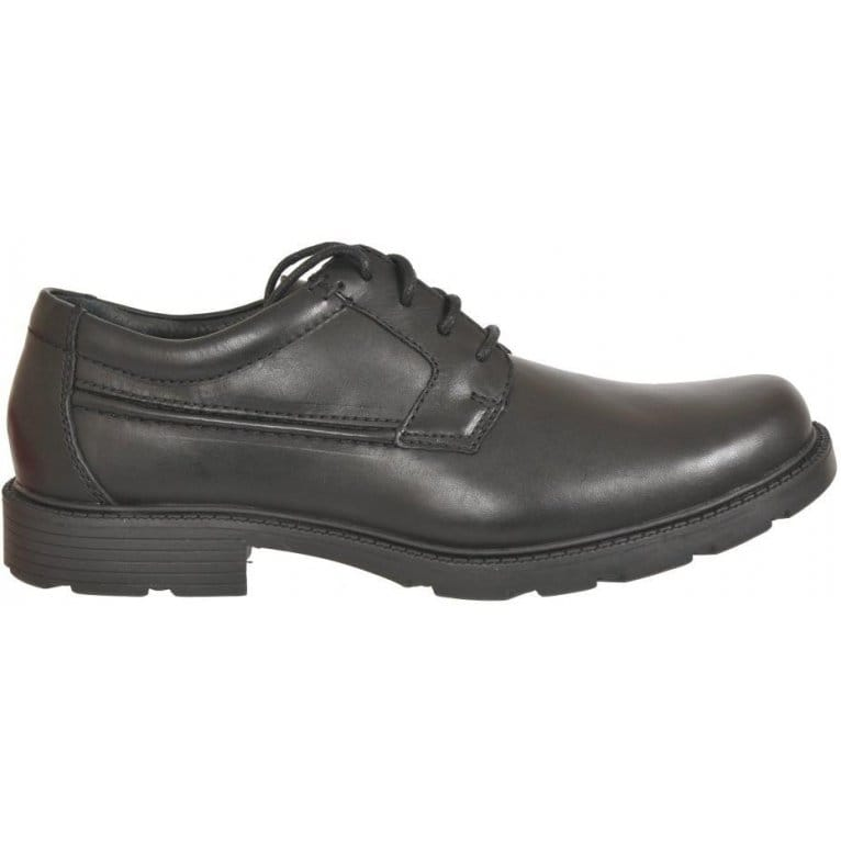 Lair Task Mens Black Leather Lace Up Derby Shoes