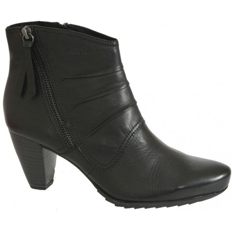 tamaris tag ladies black leather ankle boots women from. Black Bedroom Furniture Sets. Home Design Ideas