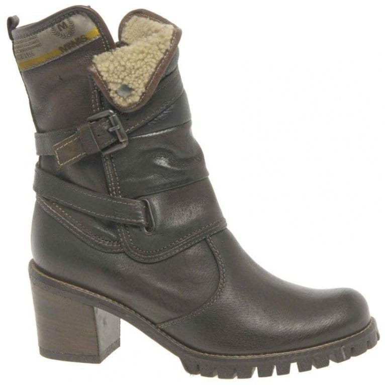 manas rockface brown leather boots from