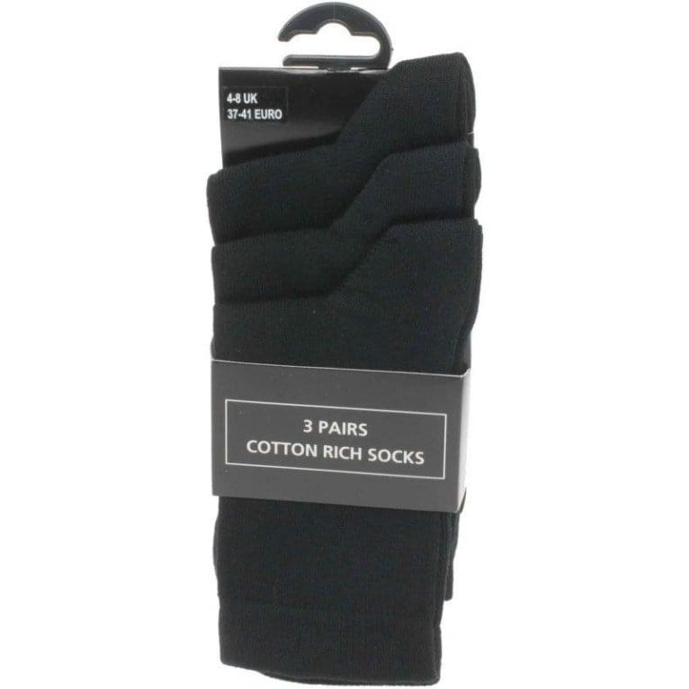 Ladies' Plain Black Socks