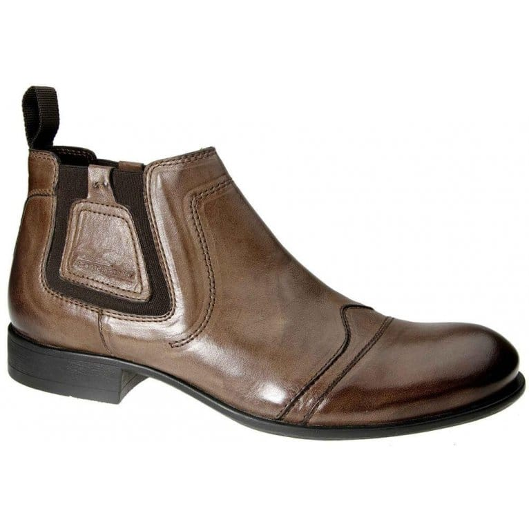 camel active jonesy brown leather mens chelsea boots
