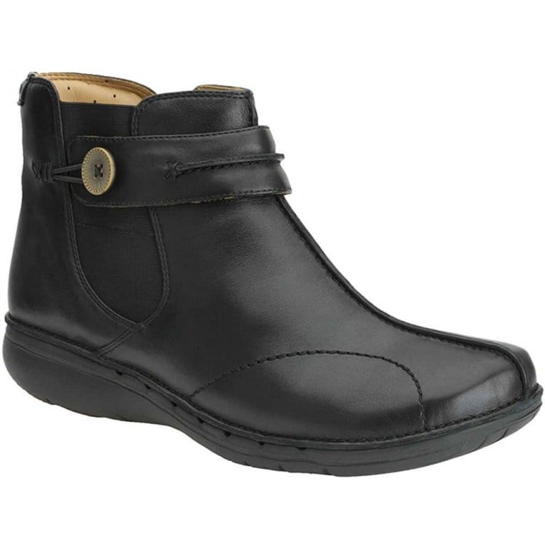 clarks un libby ankle boots black leather charles clinkard