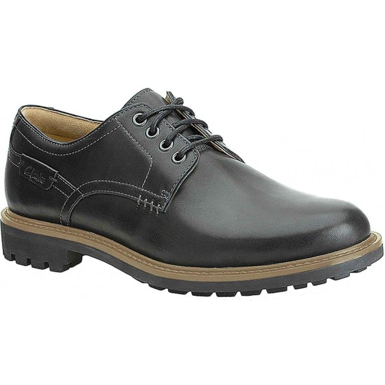 Clarks Montacute Hall Shoes Black Derby Charles Clinkard