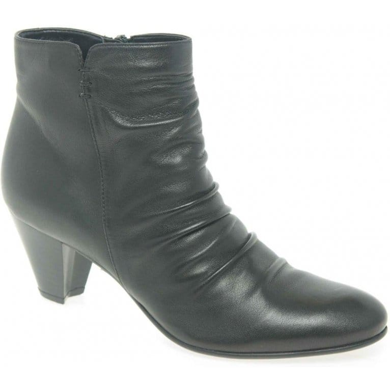 Crease Ladies Leather Ankle Boots