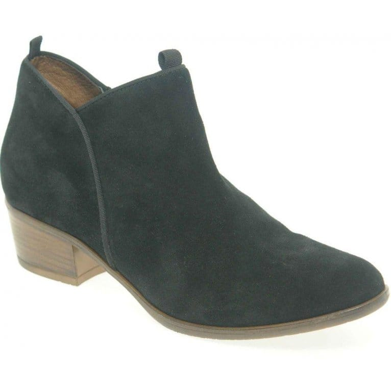 Slip Womens Suede Ankle Boots