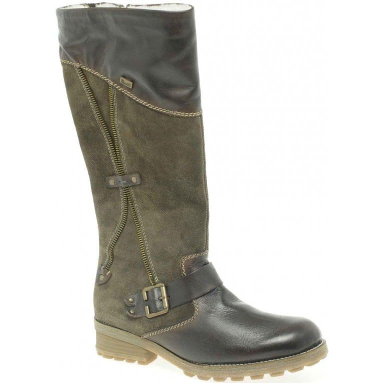 Lana Womens Zip and Strap Long Boots