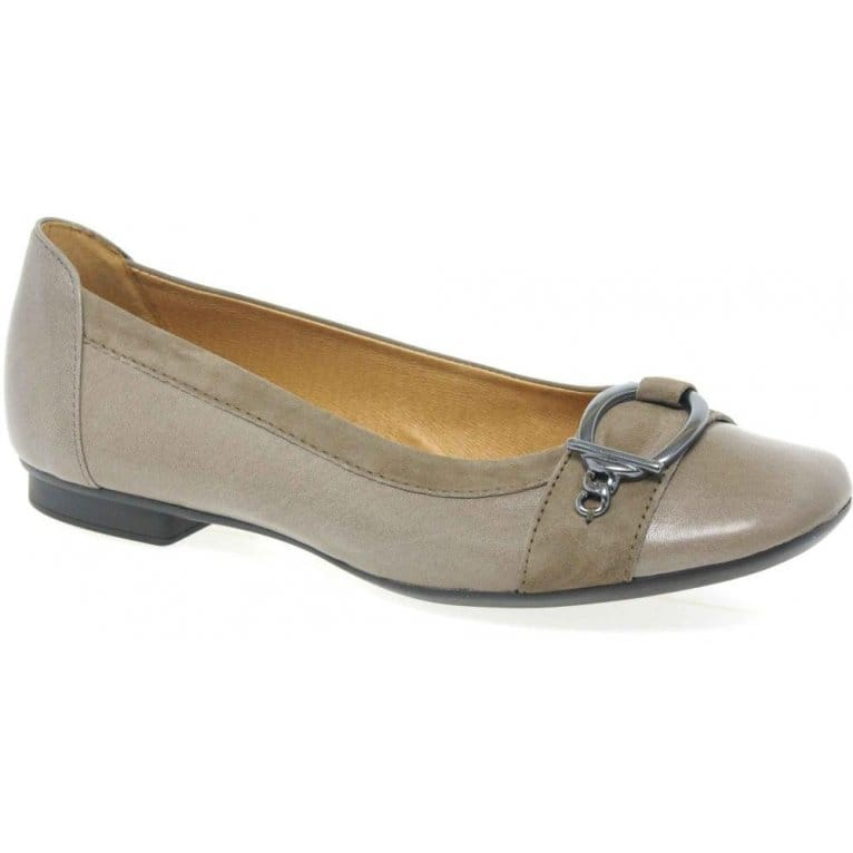 Gabor Virginia Leather Ladies Ballerina Pumps