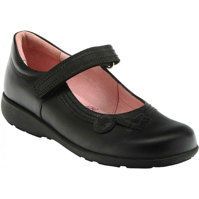 Stone Girls Velcro Fastening School Shoes