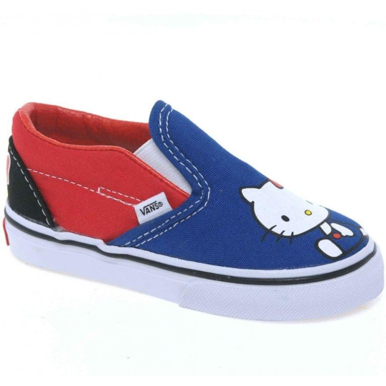 vans hello toddler slip on canvas shoes