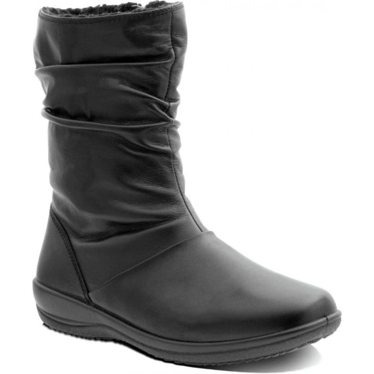 padders indigo calf boots black leather charles