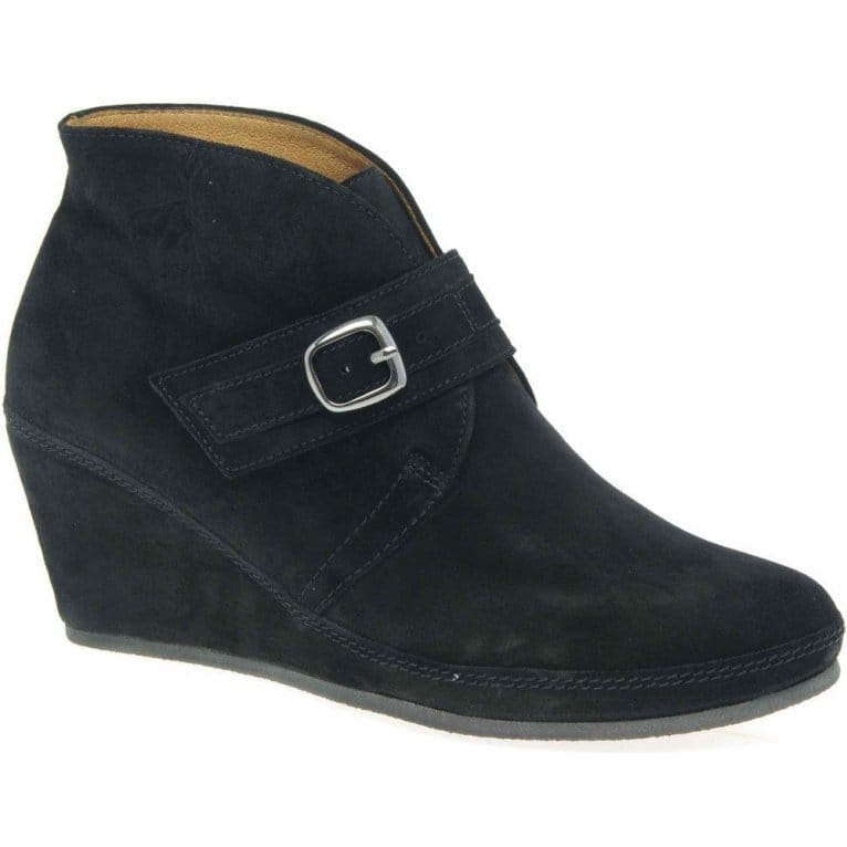 gabor slick ankle boots suede wedges charles clinkard