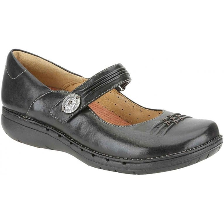 Un Linda Womens Button Strap Casual Shoes