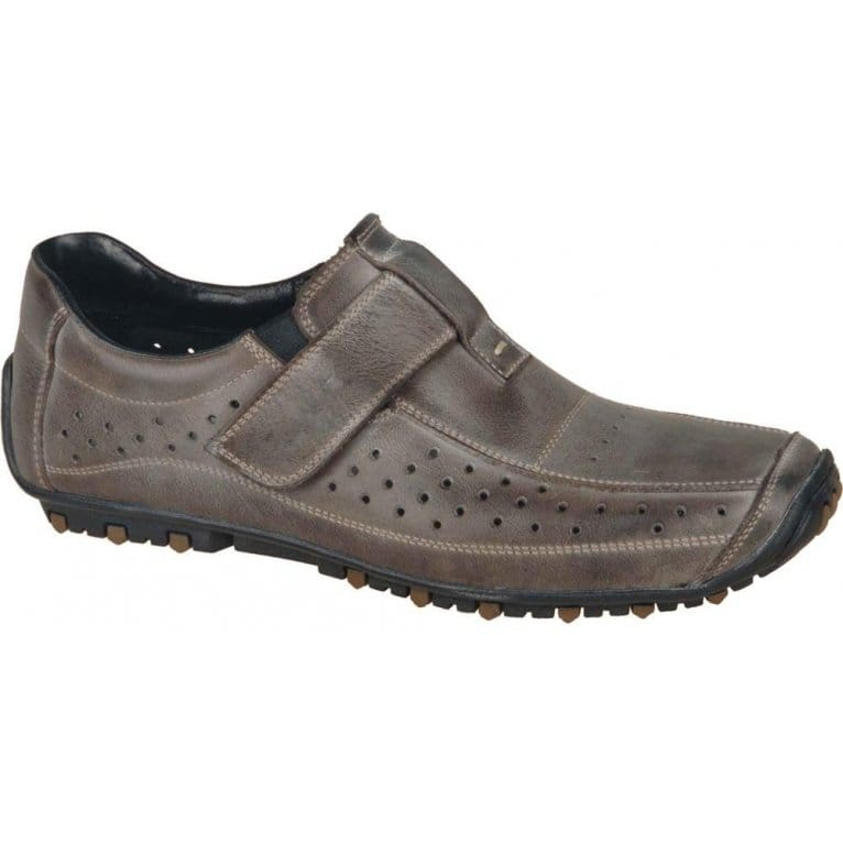 rieker grit mens velcro fastening casual shoes charles