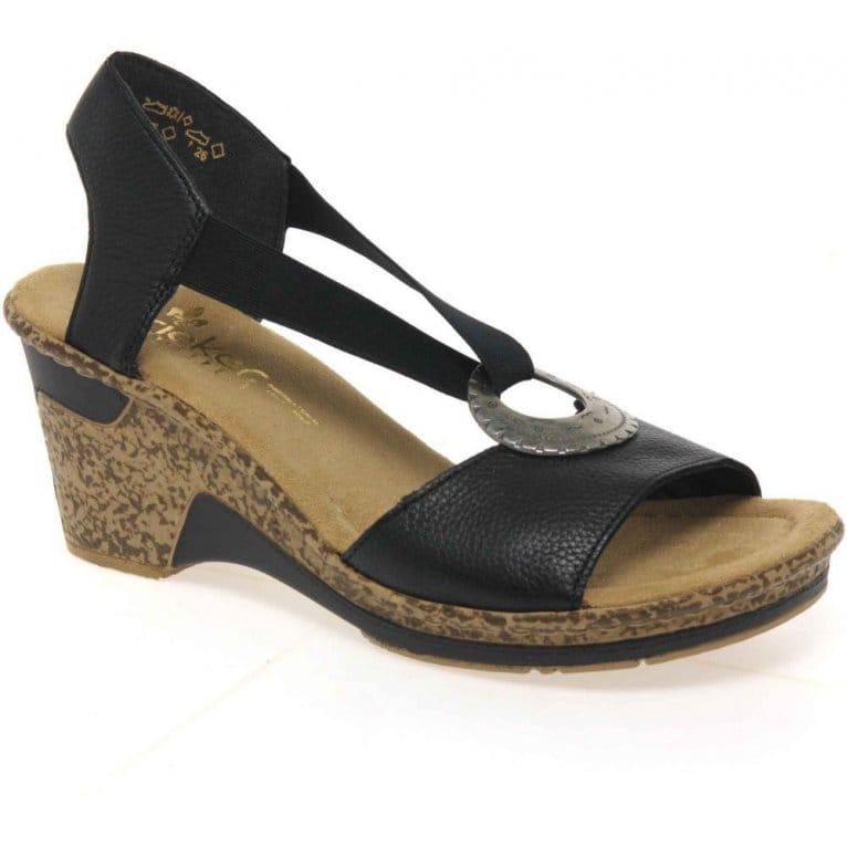 Blush Ring Trim Wedge Sandals