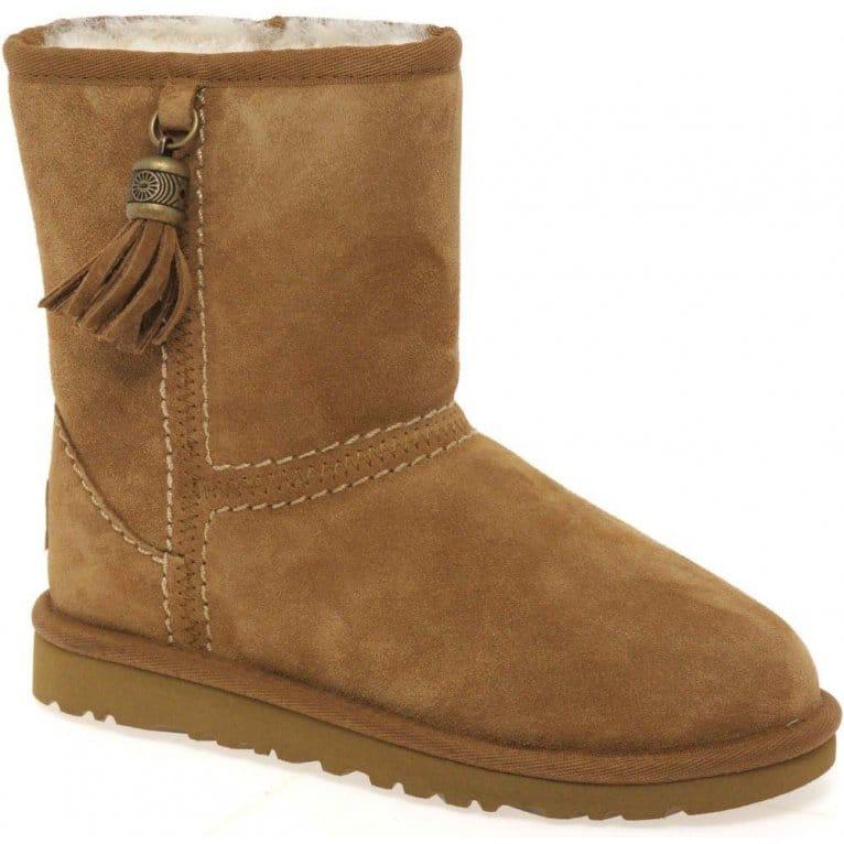 Tassels Girls Warm Lined Boots