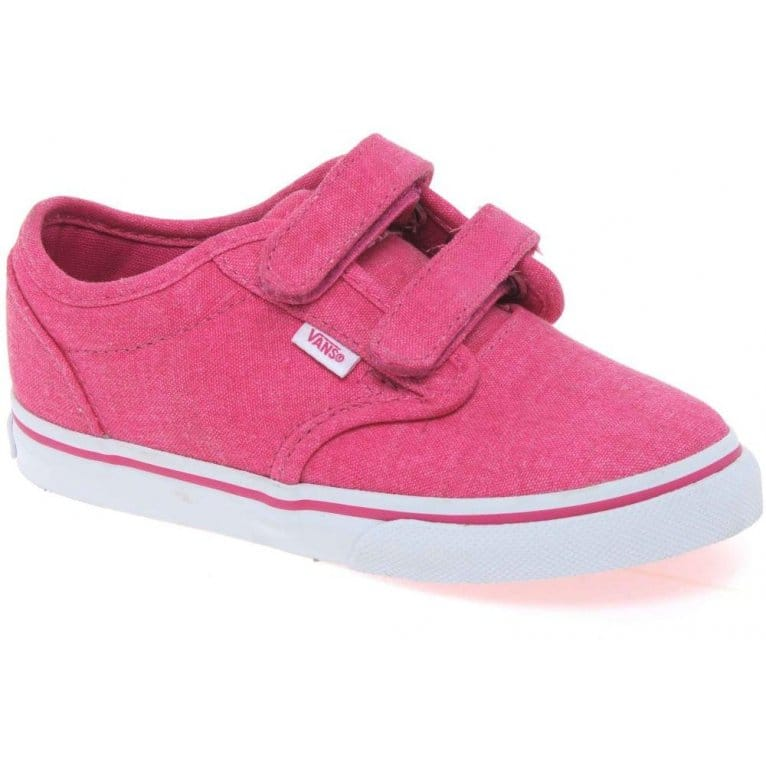 vans atwood infant velcro fastening canvas shoes