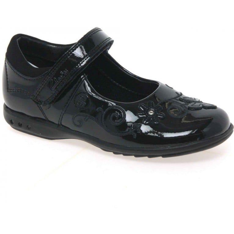 Breena Love Girls Velcro Fastening School Shoes