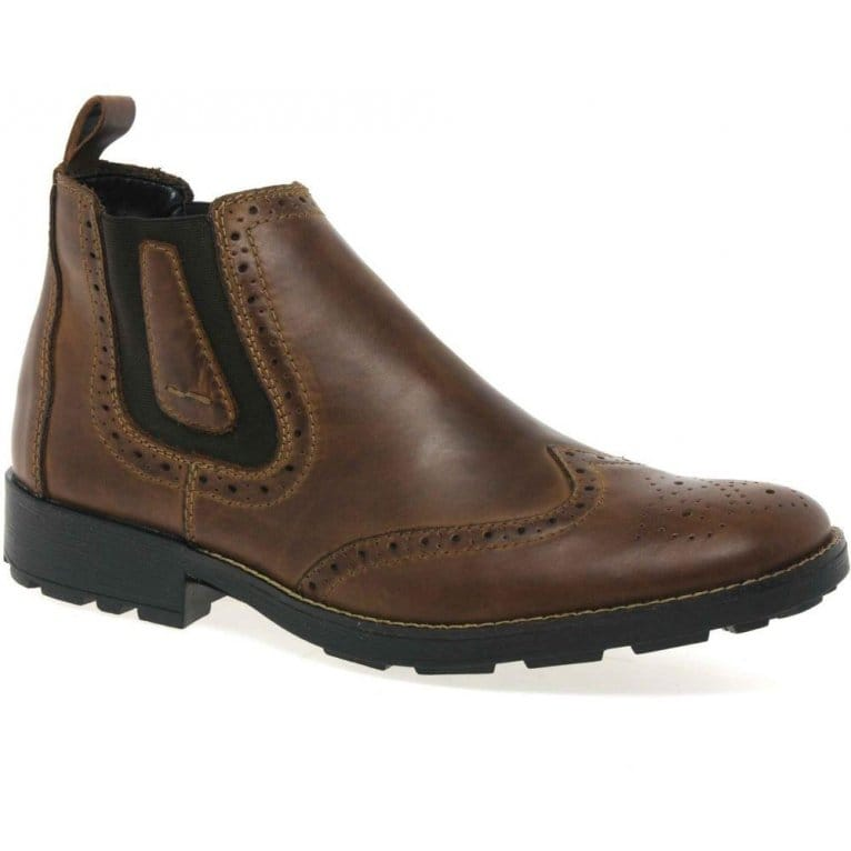 Lewis Pull On Leather Chelsea Boots