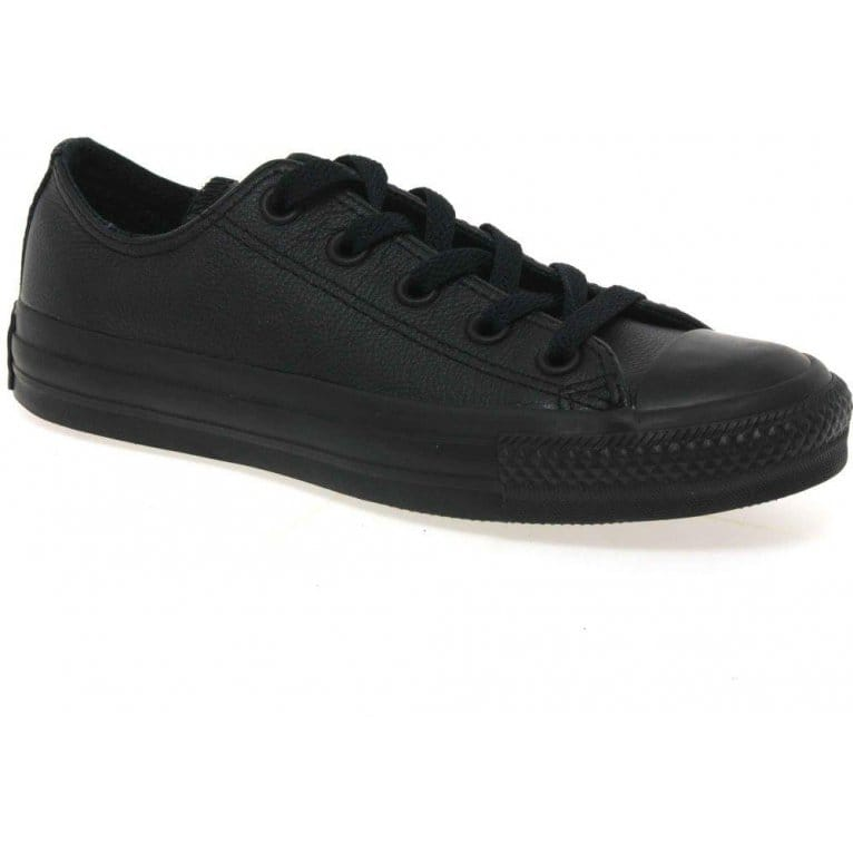 converse all black leather oxford shoes charles