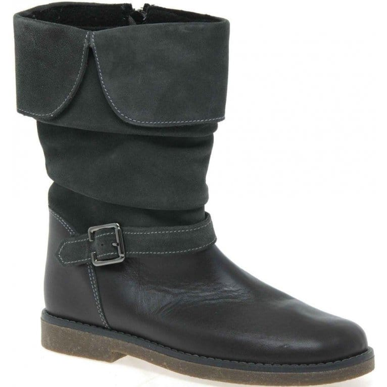 Ruched Girls Long Boots
