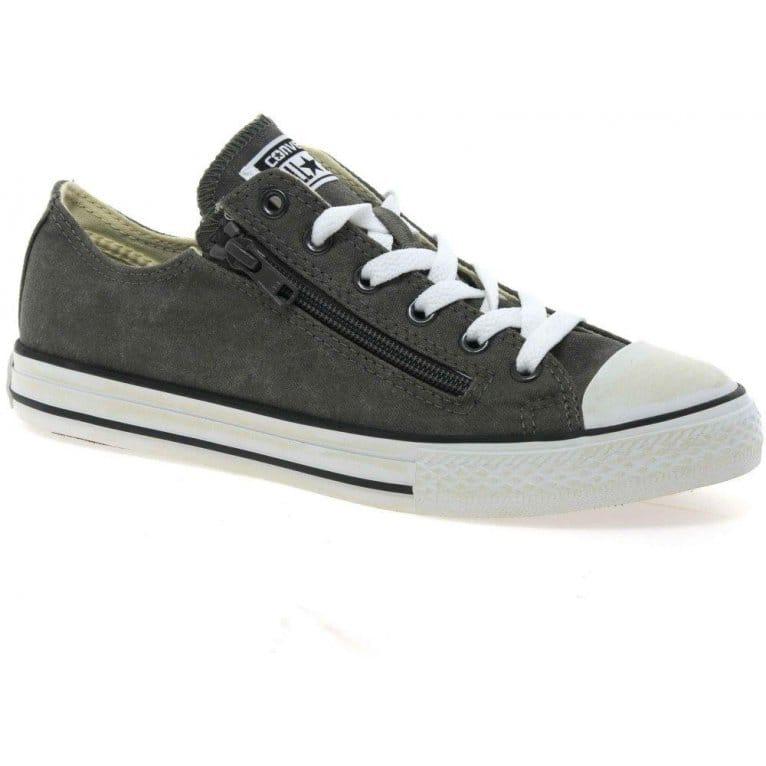 Oxford Double Zip Boys Canvas Shoes
