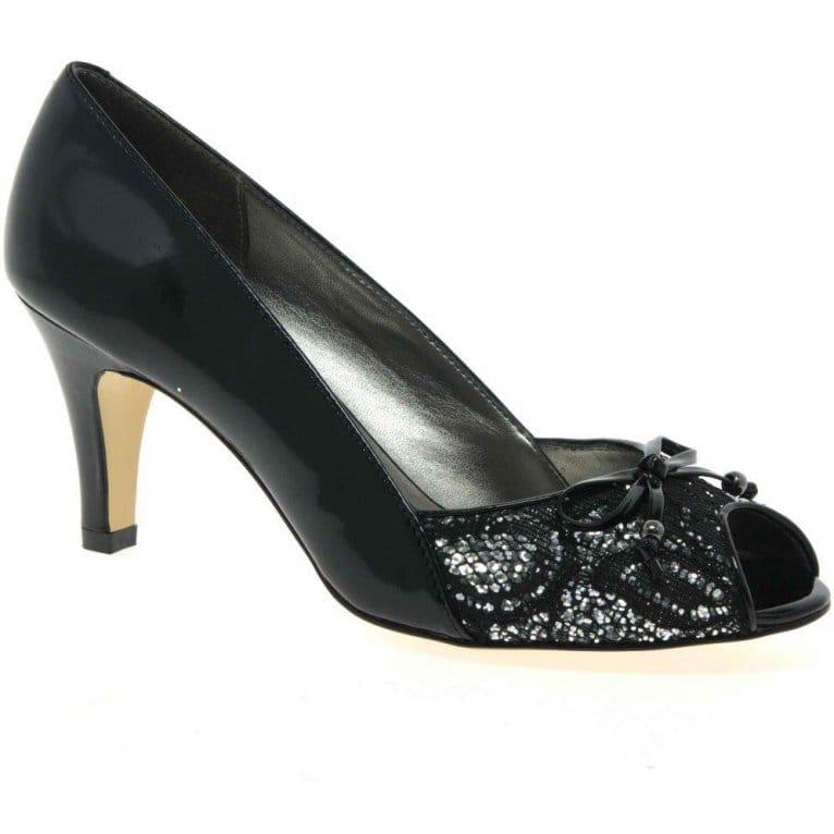 Nicoletta Womens Peep Toe Court Shoes