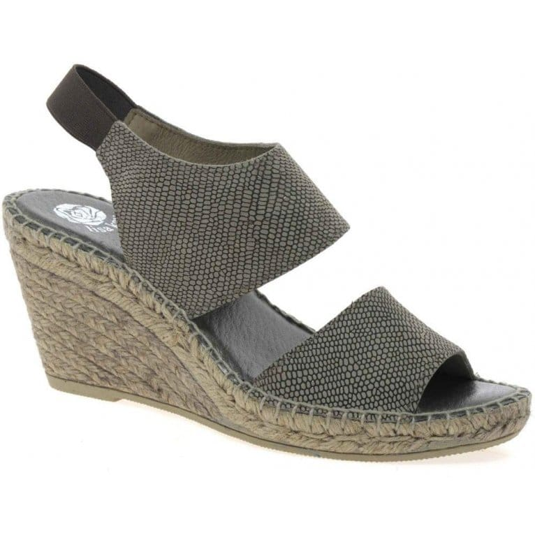 Dianna Womens Wedge Heeled Espadrilles