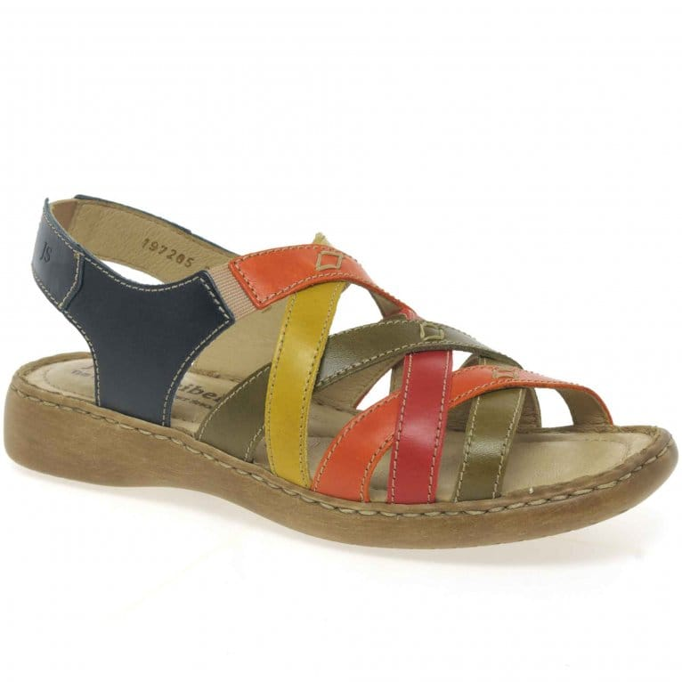 Lisa Multi Elasticated Womens Sandals