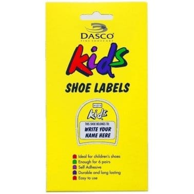 Dasco Kids Shoe Labels -  6 Pack (8701)
