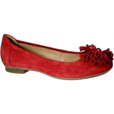 Gabor Hollywell Ladies Flower Trim Ballerina Pumps