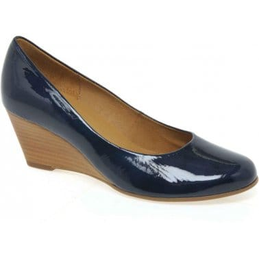 Gabor Charm Womens Wooden Wedged Court Shoes