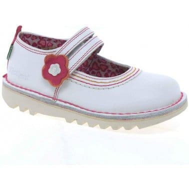 Kickers Duo Strap Infant Girls School Shoes