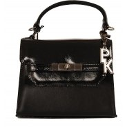 Black Crackle Patent Handbag