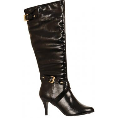 Lotus Madison Black Shiny Long Boot 4765