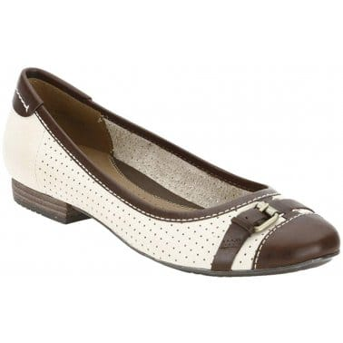 Clarks Henderson Fun Nude Ladies Pumps
