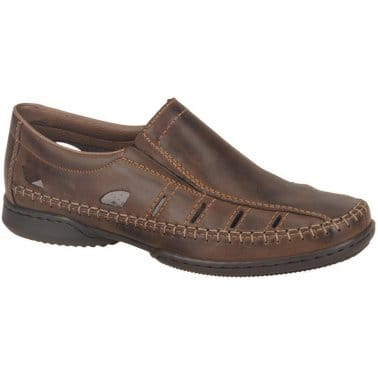 Rieker Glen Punched Slip On Mens Shoes
