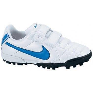 Nike Junior Boys' Tiempo Blue and White Turf Trainers 45432