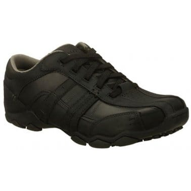Skechers Vassell Leather Casual Mens Shoes
