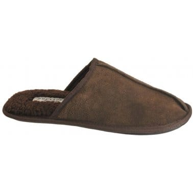 Dunlop Glen Brown Suede Mens' Slippers
