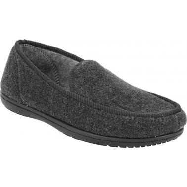 Clarks King Norton Charcoal Mens Textile Slippers