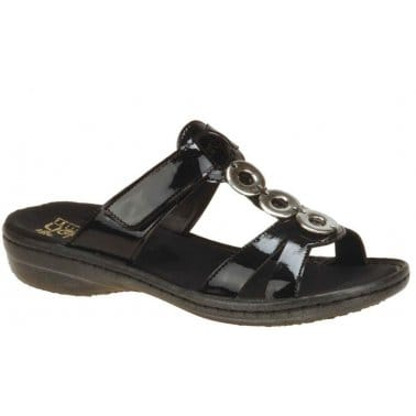 Rieker Response Jewel Trim Slip On Sandals
