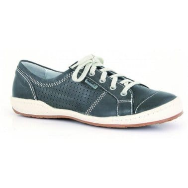 Caspian Ladies Leather Fashion Trainers