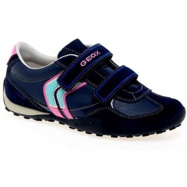 Geox Junior Snake Girl Velcro Fastening Trainers